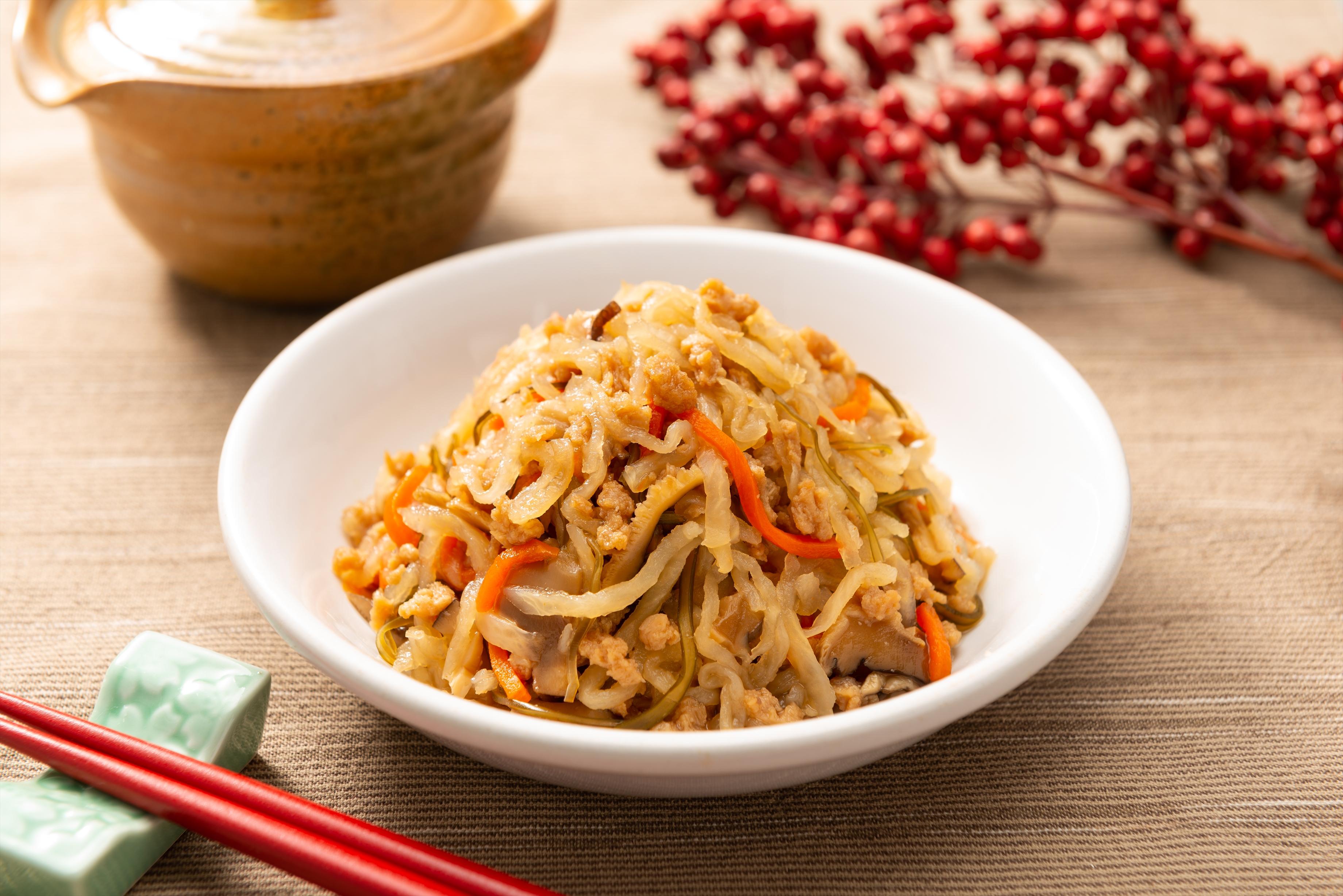 和惣菜の定番を減塩!健者のおすすめ「減塩 切干大根」