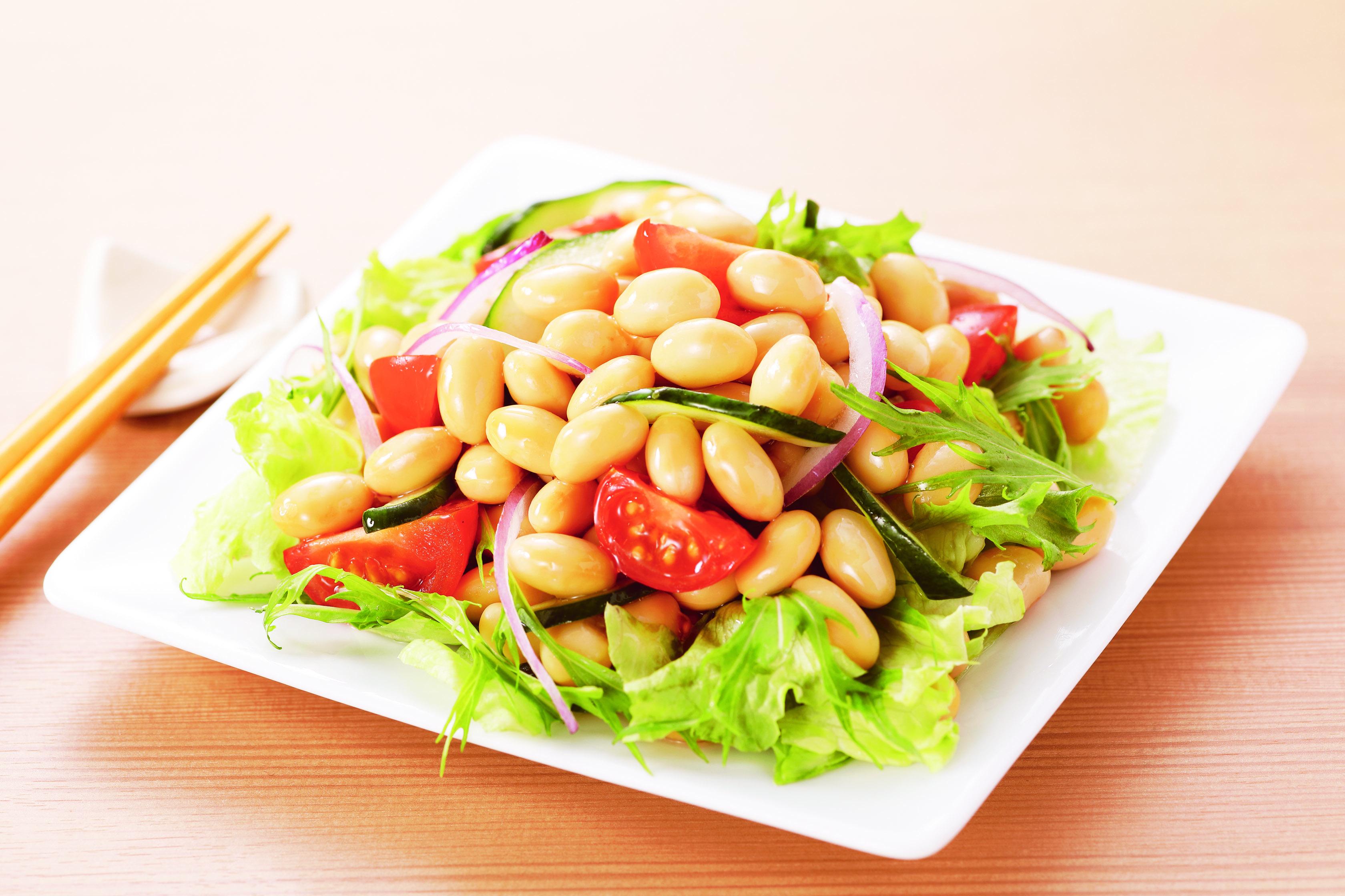 植物性乳酸菌100億個が入った「乳酸菌が入った 蒸し大豆」