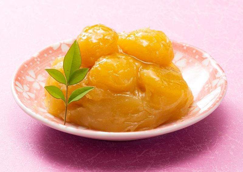 芋の風味際立つ 茨城県産紅はるか栗きんとん