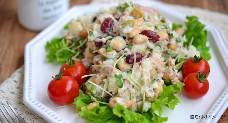 「Big1ポテトサラダ」と「サラダに!まめ」を使用したレシピ
